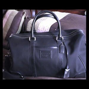 Authentic Coach Black Canvas /Leather Duffle